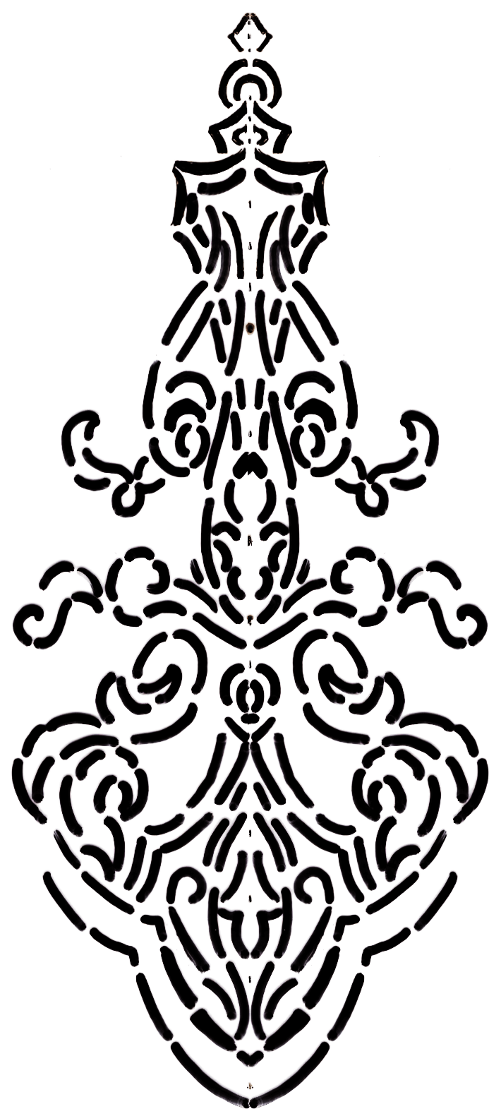 Motif line drawing for fabric embossing